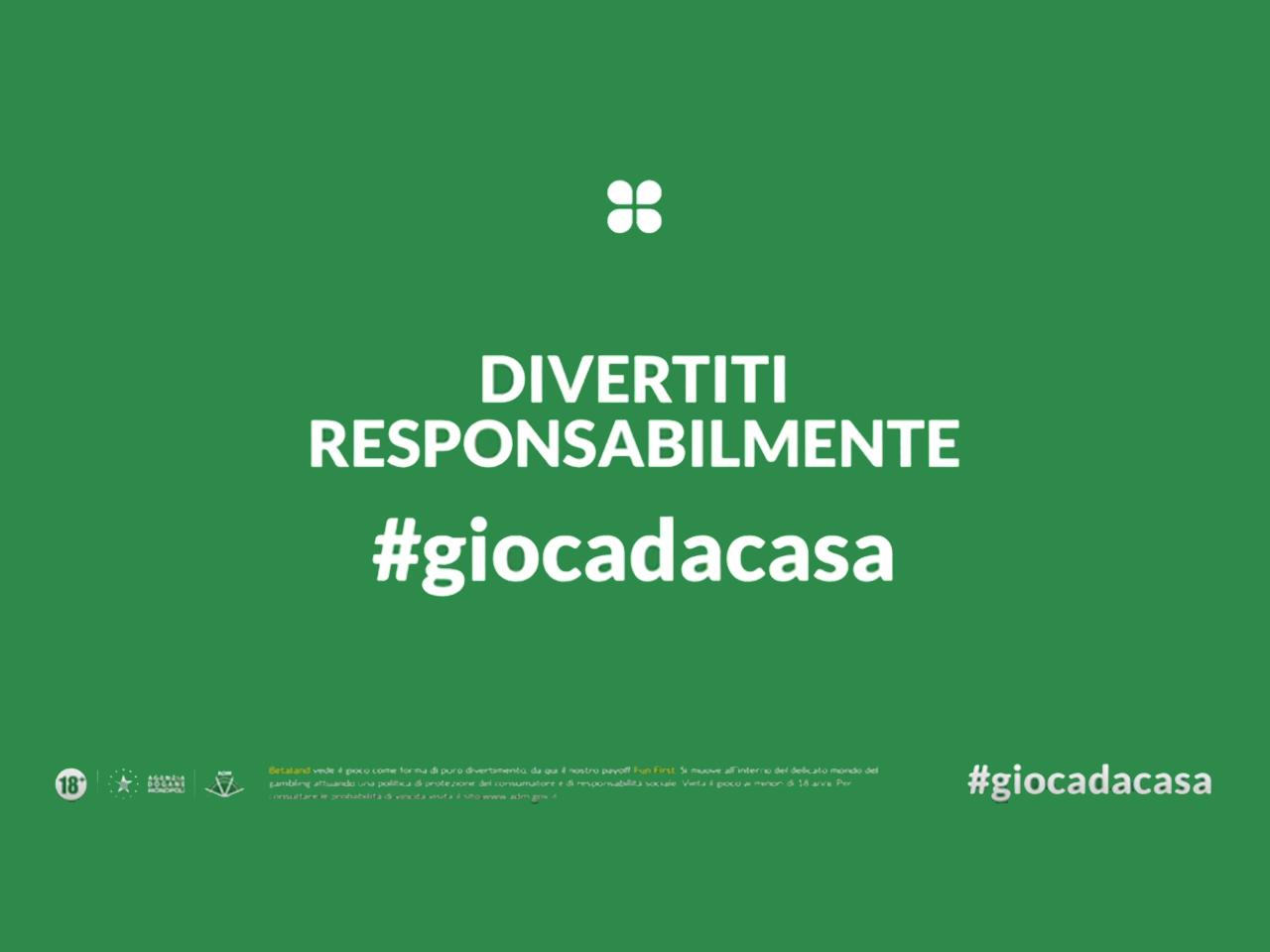 Betaland Covid-19: #giocadacasa e gioco responsabile